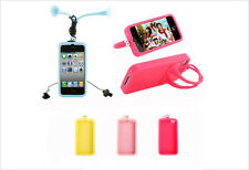 New Katydid Soft Silicone Case for iPhone 4/4s  with Free Earphone cable Winder