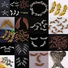 Wholesale Tibetan Silver/Bronze/Copper Angel Wings Charms Spacer Beads Findings
