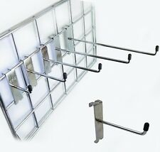 "Gridwall | Mesh Panel HOOKS Arm Shop Display Fitting Prong 4"" 6"" 8"" 10"" 12"