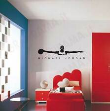 WALL STICKERS STICKER ADESIVO MURALE BASKET MICHAEL JORDAN NBA TRIBUTE 180X50