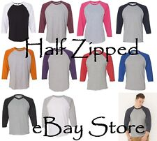 LAT Fine Jersey 3/4 Sleeve Baseball T-Shirt 6930 S-2XL Cotton/Polyester 7 Colors