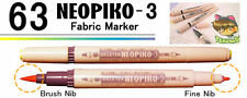 NEOPIKO-3 Brown Tan Shades Deleter Fabric Marker Professional Art Supplies