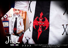Punk rock visual cosplay Excorcism academy crucifix relic chain necklace tie