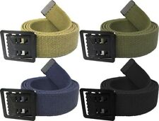 Military Black Open Face Web Buckle Web Belt