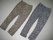 Animal Print Leopard Ankle Leggings Silky Super Soft Size 2T-6 Brown Black