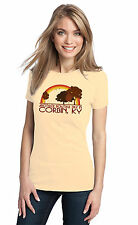 ANOTHER BEAUTIFUL DAY IN CORBIN, KY Retro Adult Ladies' T-shirt. Kentucky City