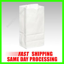 White Paper Snack Lunch Sandwich Candy Treat Small Shopping Grocery Bags Sacks