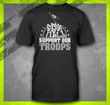 SUPPORT OUR TROOPS STAR TROOPERS STORM WARS VADER FUNNY EMPIRE T-SHIRT TEE