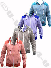 MENS FASHIONABLE CROSSHATCH DRAWSTRING PILASTER COLOURED HOODIE JACKET TOP SWEAT