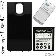 Samsung Infuse 4G i997 Extended Battery And Cover + Charger (3500mAh)