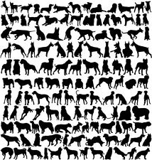 """Dogs Glass or Ceramic Low Fire Decals-Sheet 9.5"""" x 10"""" Choose Your Decal Clr"""