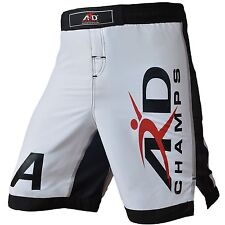 XTreme MMA Fight Shorts UFC Cage Fight Grappling Muay Thai Boxing White  XS-3XL