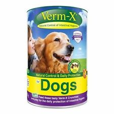 VERM-X HERBAL CRUNCHIES FOR DOGS natural dog intestinal wormer treats control
