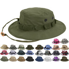 Camouflage Military Wide Brim Bucket Camping Hunting Boonie Hat