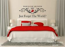 Snow Patrol Chasing Cars Lyric Quotation Wall Sticker / Wall Art Home Decor
