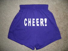 NEW Motionwear Purple CHEER Cheerleading Soffe style SHORTS Girls Small 4-6