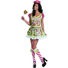 Candyland Sassy Deluxe Costume Adult Candy Girl Halloween Fancy Dress