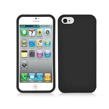 Black Fitted Hard Case Snap On Cover For Apple iPhone 5 6TH GEN Accessory