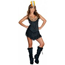 Reservation Royalty Sexy American Indian Princess Pocahontas Halloween Costume
