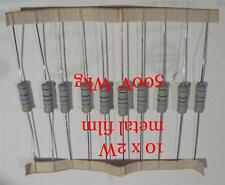 10 x 2 Watt 500 V Metal Oxide Resistors,  FREE POSTAGE, UK Stock, Fast Delivery