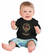 CLAN SANDERSON Infant Baby T-shirt. Scottish Family Crest, Scotland Coat of Arms