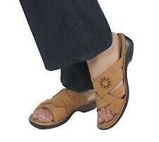 Clarks Bendables Ina Flame Nubuck Leather Embossed Slides PICK SIZE & COLOR