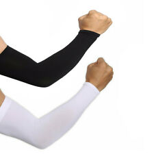 1 Pair Cooling Arm Sleeves Cover UV Sun Protection Basketball sports Stretch