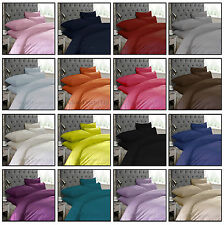 New Plain Duvet Quilt Dyed Cover Set With Pillowcases Single Double King Sizes