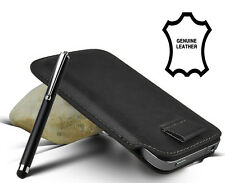 Lusso Top Strato Pelle Tirare scheda diapositiva in case cover Sleeve Pouch + STYLUS PEN