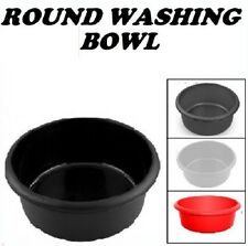 NEW LARGE AND SMALL PLASTIC ROUND WASHING UP BOWL BASIN SINK TIDY WASH CLEANING