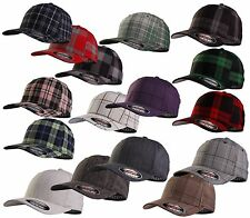 FLEXFIT ® ORIGINAL BASEBALL PLAID GLEN TARTAN CAP Check Multicolor Basecap NEU