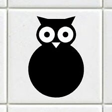 "Tile Transfers stickers owl fit 4"" and 6"" tiles Pack of 12"