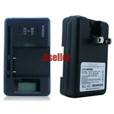 LCD Indicator AC Main + USB Universal Battery Charger for Cell Mobile Phone #C