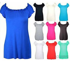NEW LADIES PLUS SIZE PLAIN GYPSY BASIC TUNIC TOPS CASUAL SUMMER TOPS 14-28