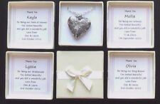 PERSONALISED BRIDESMAID THANK YOU GIFT BOX ENGRAVED HEART NECKLACE MAID HONOUR
