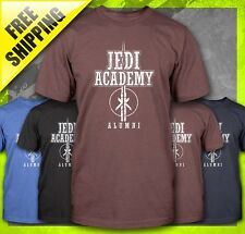 JEDI KNIGHT ACADEMY ALUMNI STAR WARS COLLEGE YODA FUNNY LIGHT SABER T-SHIRT TEE