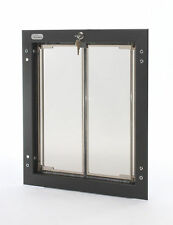 "Plexidor Dog Cat Pet Door to 1-3/4""thick Quiet dual thermo-pane cyl lock 5 sizes"