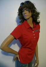 Sexy NIKE Golf Dri-Fit Velocity Sports Women Red Polo Shirt Top Designer ladies