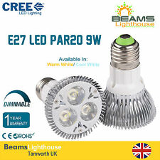 PAR20 E27 3*3W 9W DIMMABLE CREE LED Spotlight Light Bulb Warm Day White Lamps