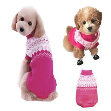 Dog Sweater Hot Pink XS S M L Knit Coat Puppy Clothes Jacket Jumper Chihuahua