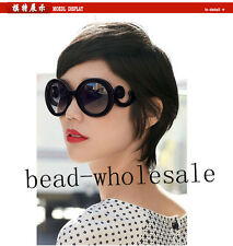 Popular Women Vintage Semi Transparent Round Lenses Butterfly Arms Sunglasses