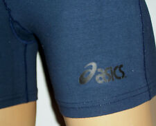 NAVY BLUE ASICS Womens Fitness Training Shorts Cotton/Spandex NEW Volleyball Gym