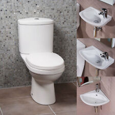 Modern Florence Toilet Bathroom Cloakroom Suite With Option of Wall Hung Basins