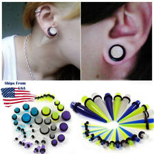 Glow In The Dark Plugs Taper Earring Expanding Set Stretching Kit/Pairs 14G-1/2""