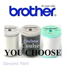 BROTHER LARGE MACHINE EMBROIDERY BOBBIN THREAD 1000M 1100M 60, 90 WEIGHT CHOOSE