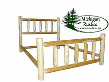 Rustic White Cedar Log Bed - Northern Series