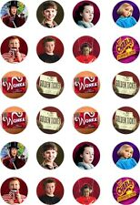 24x PRECUT CHARLIE CHOCOLATE FACTORY/WILLY WONKA  RICE PAPER CUP CAKE TOPPERS