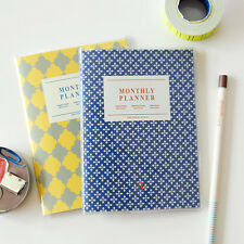 Iconic A6 Monthly Planner Journal Organizer Scheduler (12 Months) +PVC Cover