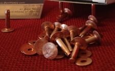 Copper Rivets & Burrs #12 YOUR choice of quantity & length Made in USA SCA belt