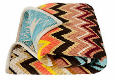 MISSONI for TARGET BROWN PURPLE PASSIONE THROW BLANKET QUILT ~ LIMITED EDITION ~